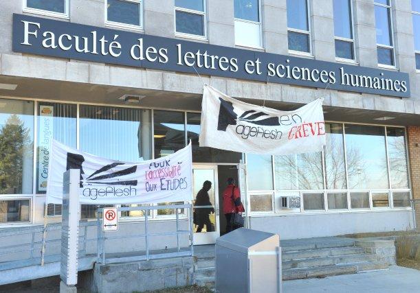 Une cinquantaine d'étudiants de l'Université de Sherbrooke  et de ... (Imacom, Maxime Picard)
