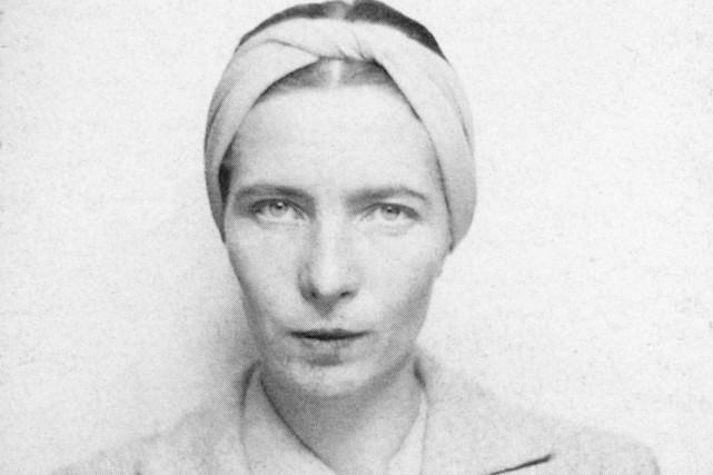 Simone de Beauvoir en 1939... (Photo: tirée du roman Correspondance croisée 1937-1940)