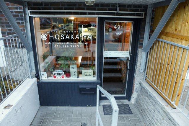 Le restaurant Hosaka-Ya-Sushi, dans le Vieux-Limoilou....
