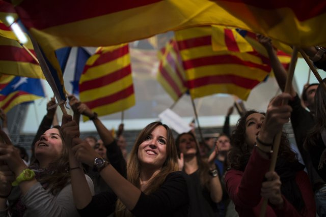 Contrairement à la Catalogne (photo), il est évident... (Photo Emilio Morenatti, AP)