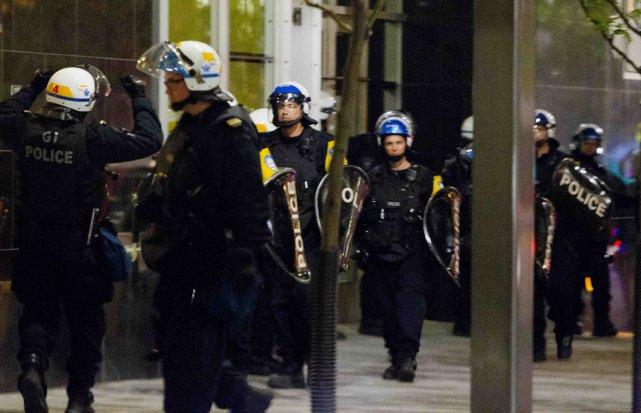 Les coulisses de la police de Montreal (SPVM)... ((PHOTO ALAIN ROBERGE, LA PRESSE))