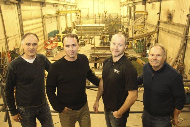 L'équipe de direction d'Hydro-Innovation Mecan-Hydro: Stéphane Côté, Philippe... (photo Janick Marois)