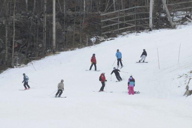 La première chute de neige dans la région,... (photo archives La Voix de l'Est)