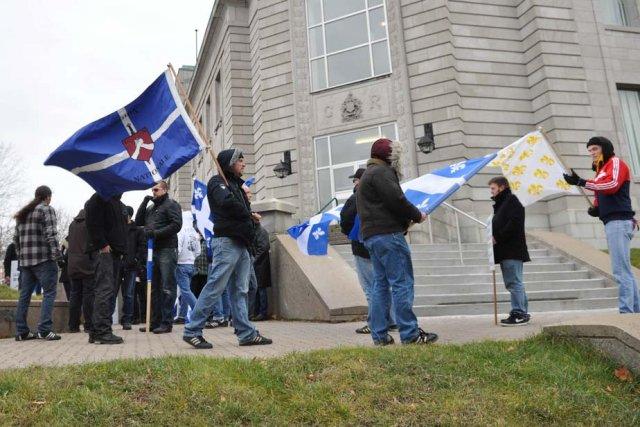 La Légion nationale et la Fédération des Québécois... (Photo: Émilie O'Connor)