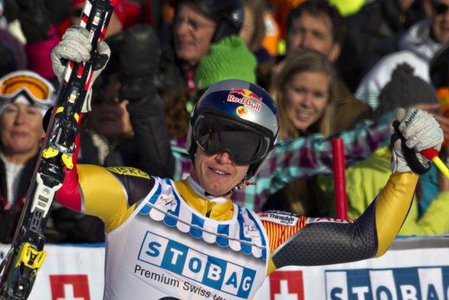 Le Québécois Erik Guay est très satisfait de... (Photo: Reuters)