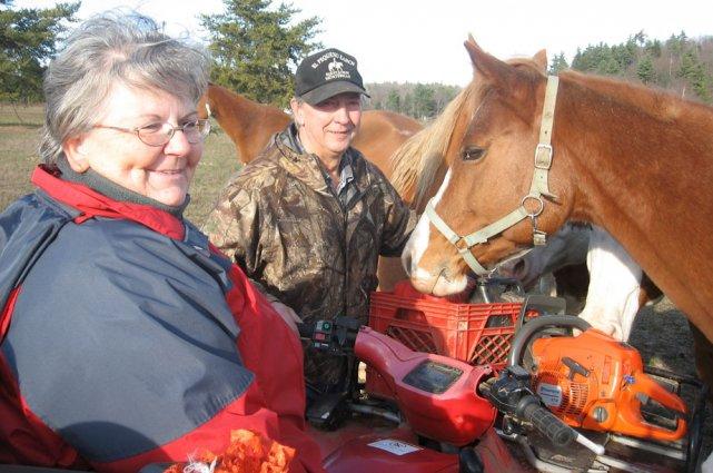 Au ranch El Pequeño, à Papineauville, Céline Maurice... (Jessy Laflamme, LeDroit)
