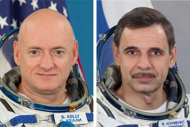 Scott Kelly et Mikhail Kornienko.... (Photo Associated Press)