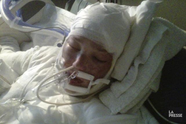 À l'hôpital, Tanya St Arnauld a dû être... (Photo tirée de Facebook)