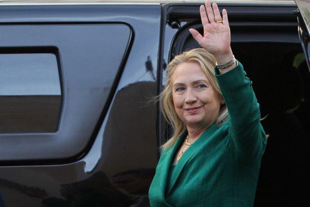 La secrétaire d'État américaine Hillary Clinton, à Ramallah,... (PHOTO ABBAS MOMANI, AFP)