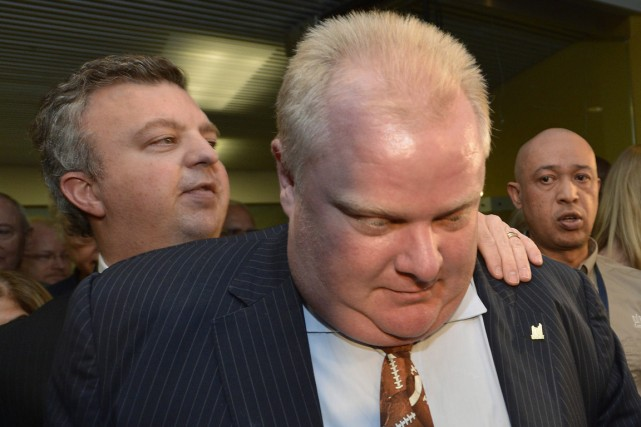 Le maire de Toronto, Rob Ford.... (PHOTO NATHAN DENETTE, ARCHIVES LA PRESSE CANADIENNE)