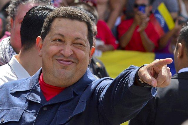 Le président vénézuélien HUgo Chavez.... (PHOTO LUIS ACOSTA, ARCHIVES AFP)