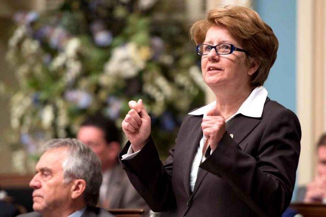 C'est la ministre du Travail, Agnès Maltais, qui... (Photothèque Le Soleil)