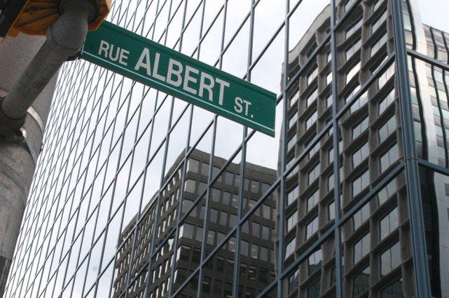 La rue Albert, au centre-ville d'Ottawa, se classe... (Étienne Ranger, LeDroit)