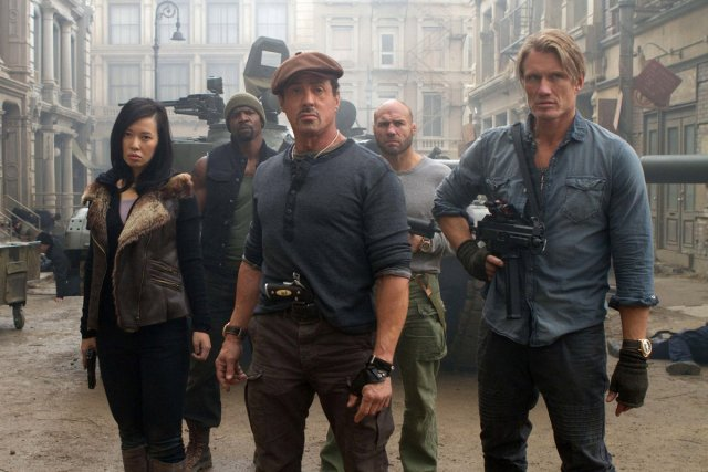 Une scène de The Expendables 2... (Photo: fournie par Alliance Vivafilm)