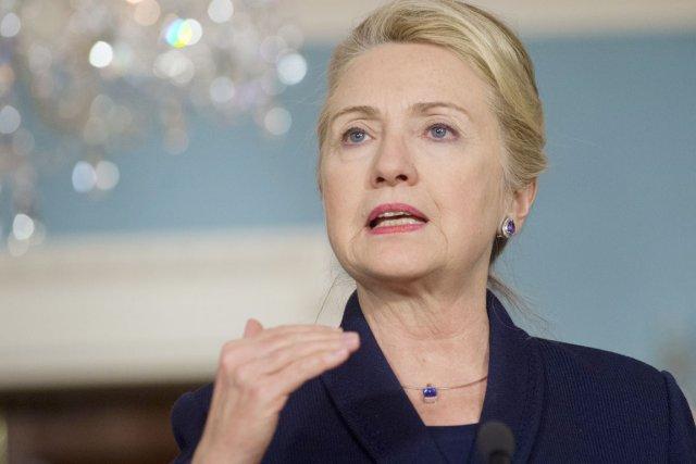 La secrétaire d'État américaine Hillary Clinton.... (PHOTO SAUL LOEB, AFP)