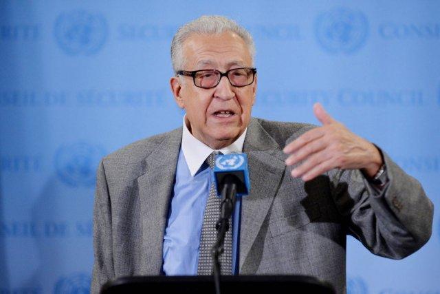L'émissaire international pour la Syrie Lakhdar Brahimi.... (PHOTO STAN HONDA, AFP)