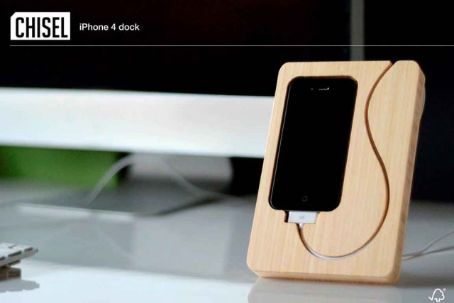 Station de chargement pour Iphone en bambou d'iSkelter,...