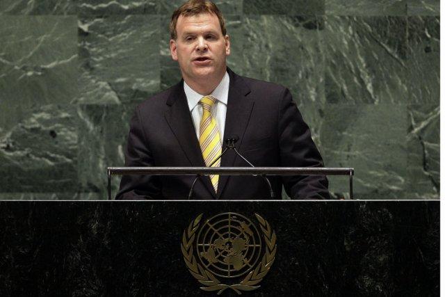 Le ministre des Affaires étrangères,John Baird, s'était déplacé... (PHOTO RICHARD DREW, AP)