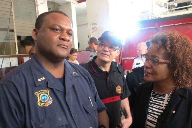 Le chef des pompiers de Port-au-Prince, Gregory William,... (Collaboration spéciale Valérie Gaudreau)