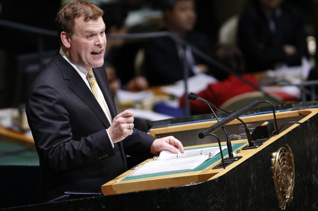 John Baird à l'ONU jeudi.... (Photo AFP)