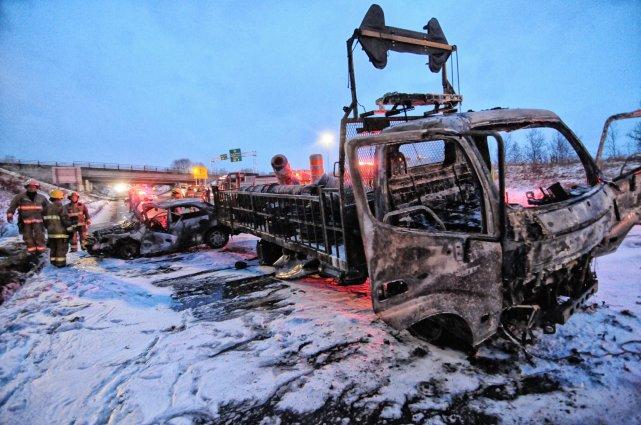 Un autre accident est survenu sur le chemin des Écossais, jeudi en fin  de... (Imacom, Julien Chamberland)