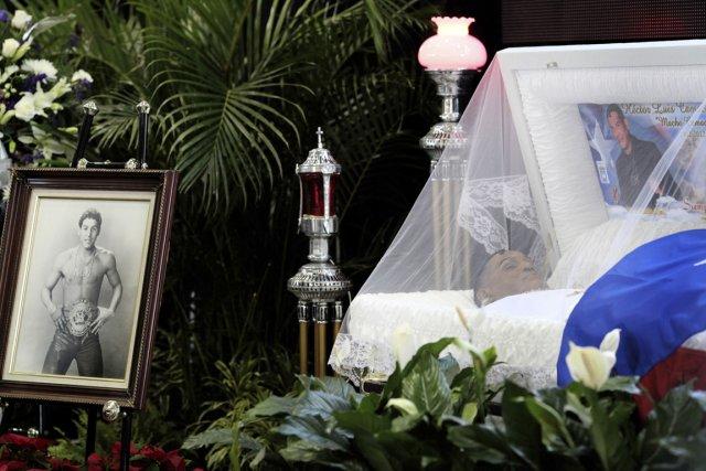 Les funérailles de Hector «Macho» Camacho ont été... (Photo : Alvin Baez, Reuters)