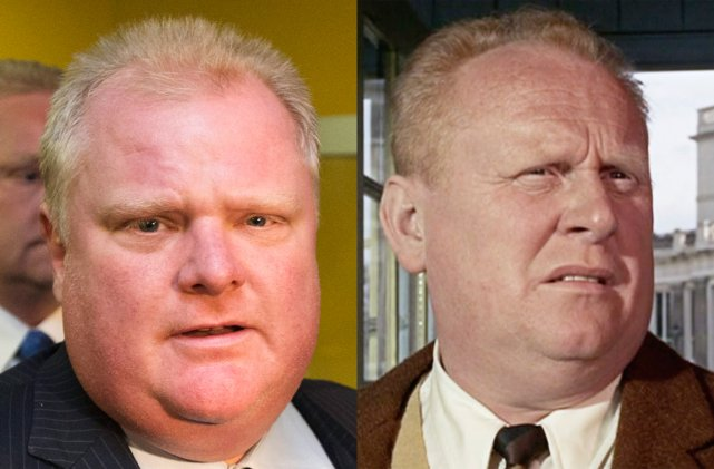 Rob Ford et Gert Fröbe... (Photomontage.)