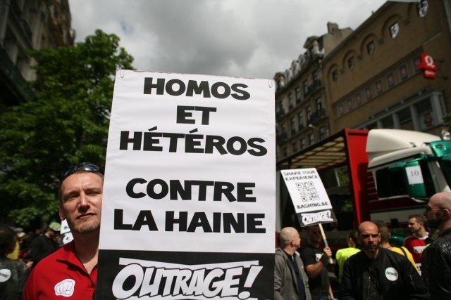 Au défilé de la fierté gaie, en mai... (Photo : archives Belga)