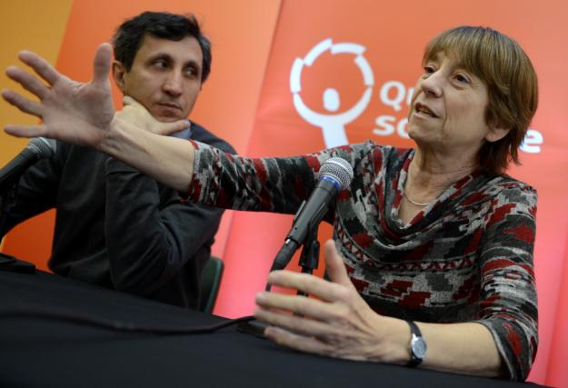 La chef de Québec solidaire, Françoise David, et... (Photo Le Soleil, Patrice Laroche)
