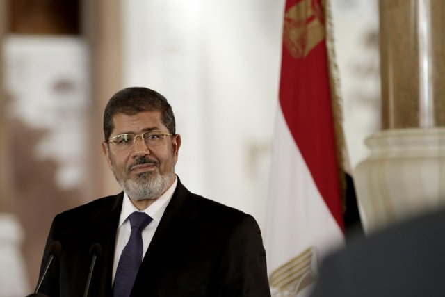 Le président égyptien Mohamed Morsi.... (PHOTO MAYA ALLERRUZZO, ASSOCIATED PRESS)