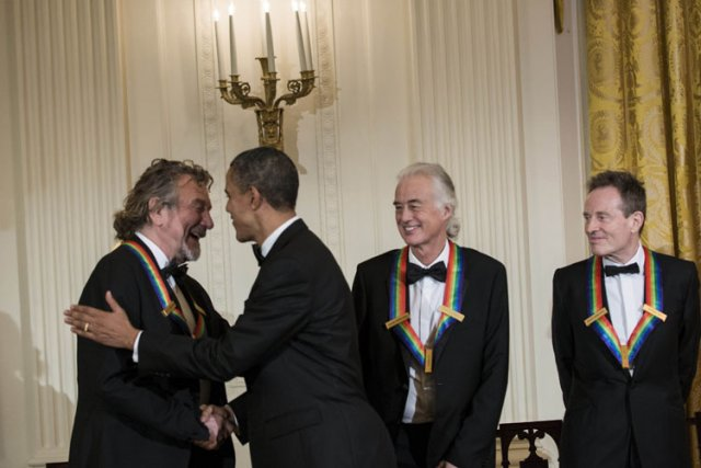 Barack Obama a honoré les membres de Led... (Photo: AFP)