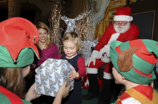 Leucan a offert une fête de Noël aux... (Le Soleil, Andréanne Lemire)