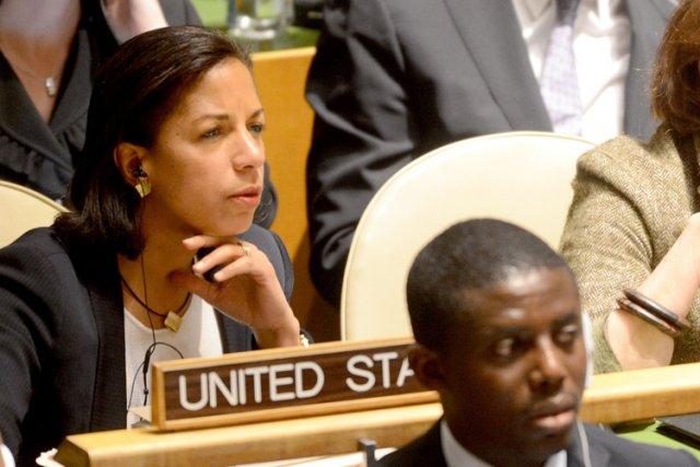 Susan Rice, ambassadrice des États-Unis à l'ONU, fait... (Photo: AFP)
