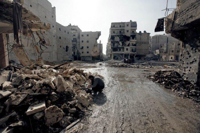 Outre les vésicants comme le gaz moutarde, Damas... (Photo: AFP)
