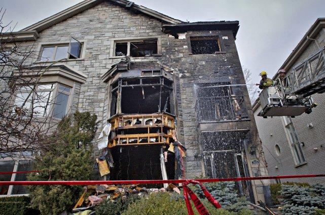 Ce qui reste de la maison d'Ari Ben-Menashe.... (Photo Patrick Sanfaçon, La Presse)