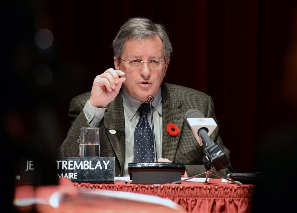 Le maire Jean Tremblay... (Photo Jeannot Levesque)