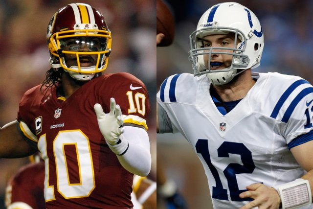 Les quarts recrues Robert Griffin III, des Redskins... (Photos: AP)