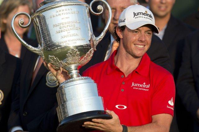 Rory McIlroy a remporté son deuxième titre majeur... (Photo: AFP)