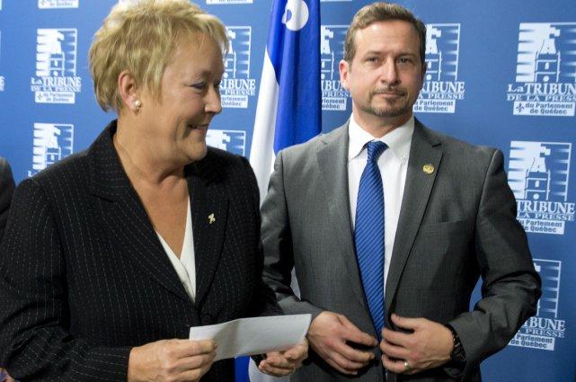 Pauline Marois etYves-François Blanchet.... (Photo La Presse Canadienne)