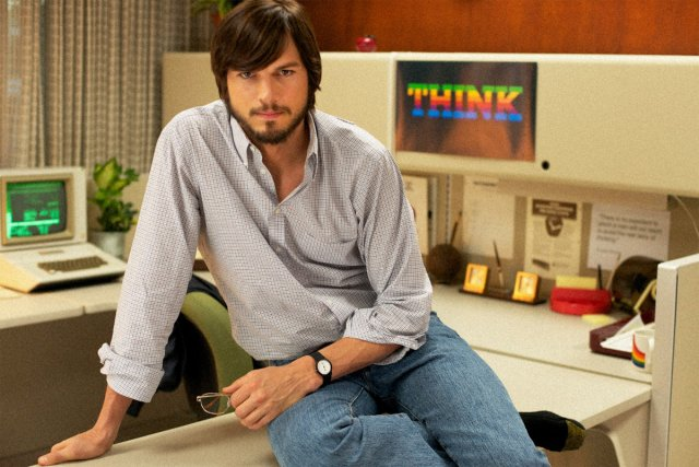 Ashton Kutcher jouera le rôle de Steve Jobs.... (Photo tirée du site Facebook du film)