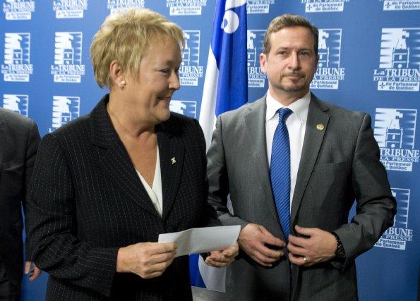 Pauline Marois a choisi Yves-François Blanchet pour succéder... (Photo: La Presse Canadienne)