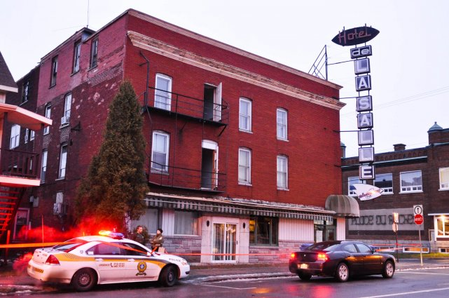L'ancien Hôtel de Lasalle a subi des dommages... (Photo: Émilie O'Connor)