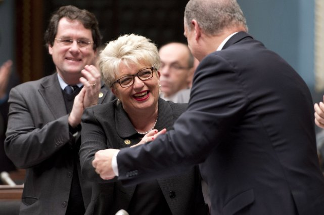 La ministre responsable de la loi 101, Diane... (Photo La Presse Canadienne)