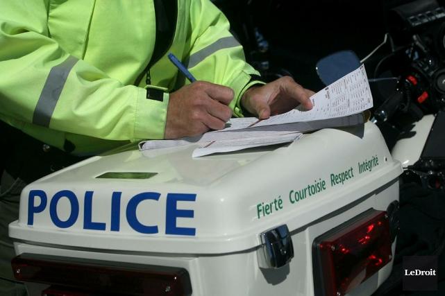 Le policier David Bérard, qui travaillait depuis 12... (Patrick Woodbury, LeDroit)