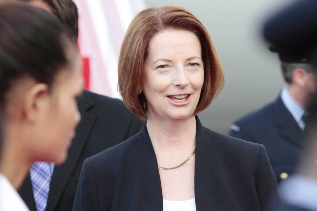 La première ministre australienne Julia Gillard.... (PHOTO MAK REMISSA, ARCHIVES AFP)
