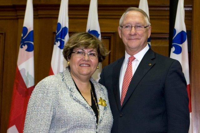 Mary Deros et l'ancien maire de Montréal Gérald... (PHOTO ROBERT SKINNER, LA PRESSE)