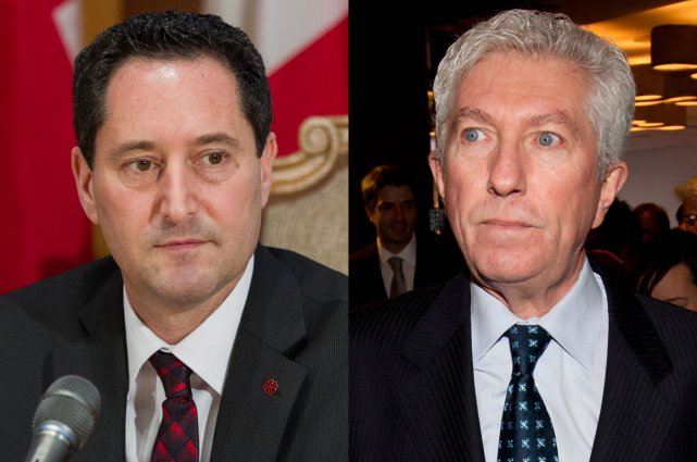 Michael Applebaum et Gilles Duceppe.... (Photomontage lapresse.ca)