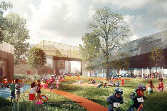 Le projet de miniville comprend des quartiers pour...