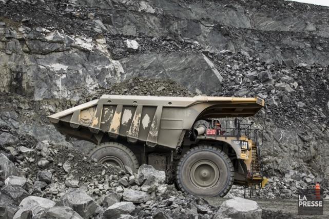 Taxer la production des entreprises minières plutôt que... (Photo Olivier Pontbriand, archives La Presse)