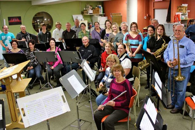 Les musiciens de l'Harmonie de La Tuque veillent... (Photo: Audrey Tremblay)